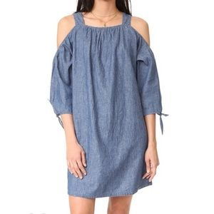 Madewell cold shoulder chambray dress